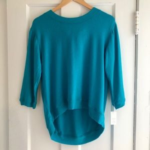 New Bright Blue Sweater with Tie Back NWT